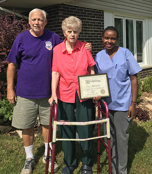 Elon Nabatanzi - caregiver of the month