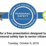 Assisting Hands Attended the Personal Safety for Seniors Event at the Schaumburg Library