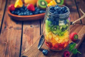 Fresh Fruit Salad in a Jar