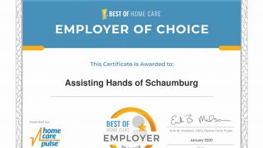 Assisting Hands Home Care in Schaumburg/Park Ridge Receives 2020 Best of Home Care Employer Choice Award