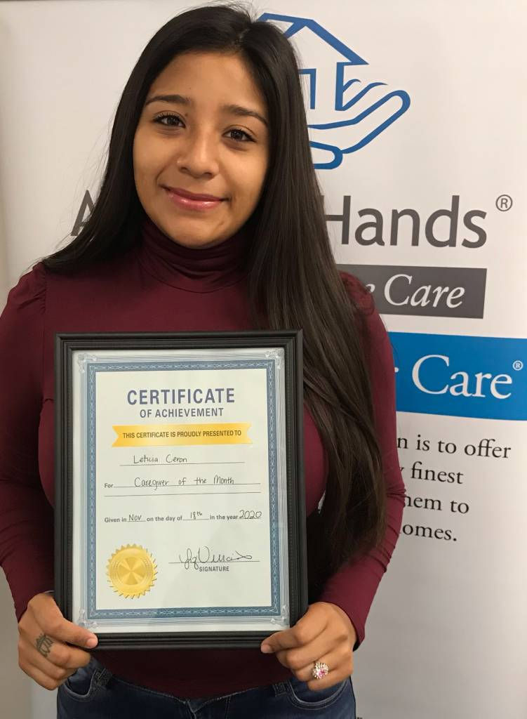 Leticia Ceron - November Caregiver of the Month